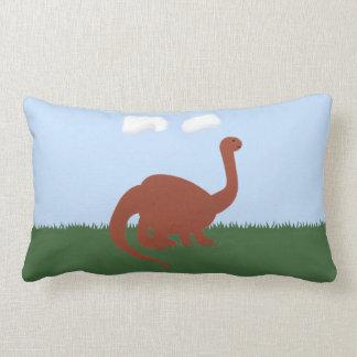 Dinosaur Whimsical Cartoon Art Pillow