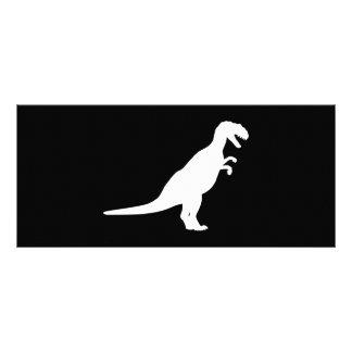 Dinosaur White Rack Card