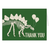 Dinosaur with Balloons Thank You