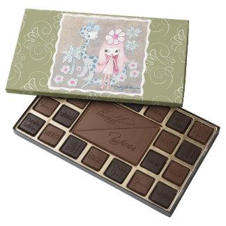 Dinosaur with Cavegirl 45 Piece Box Of Chocolates