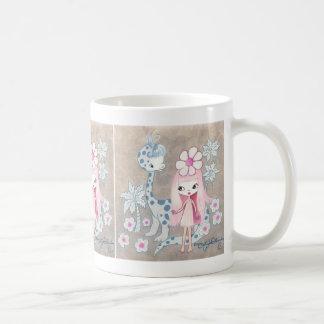 Dinosaur with Cavegirl Coffee Mugs