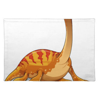 Dinosaur with long neck cloth placemat