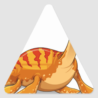 Dinosaur with long neck triangle sticker