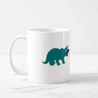 Dinosaur with Mustache, Glasses and Pipe mug