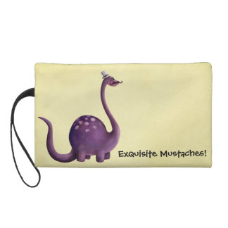 Dinosaur with Mustaches Wristlet Purse