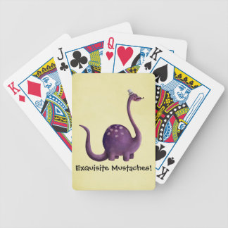 Dinosaur with Mustaches Bicycle Playing Cards