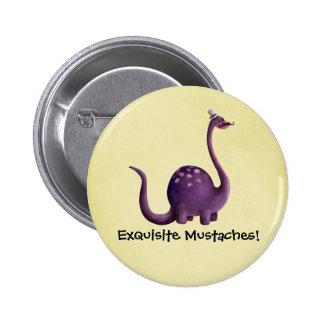 Dinosaur with Mustaches Pins