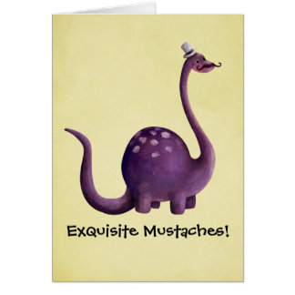 Dinosaur with Mustaches Card