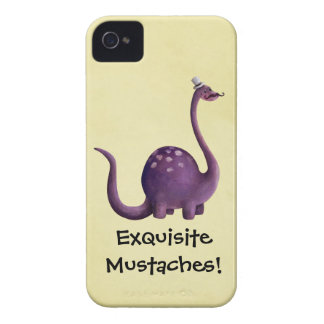 Dinosaur with Mustaches iPhone 4 Cases