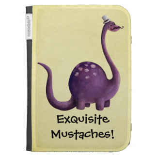 Dinosaur with Mustaches Kindle Cases
