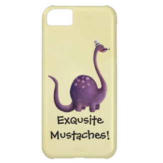 Dinosaur with Mustaches iPhone 5C Cases