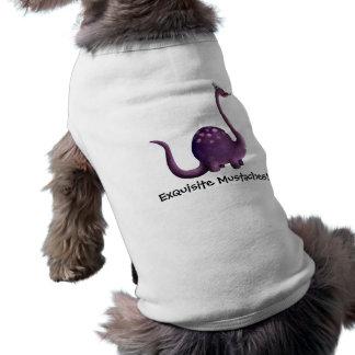 Dinosaur with Mustaches Doggie Tee Shirt
