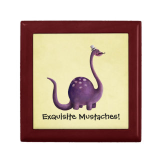 Dinosaur with Mustaches Jewelry Box