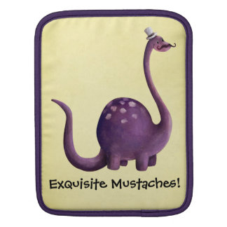 Dinosaur with Mustaches iPad Sleeve