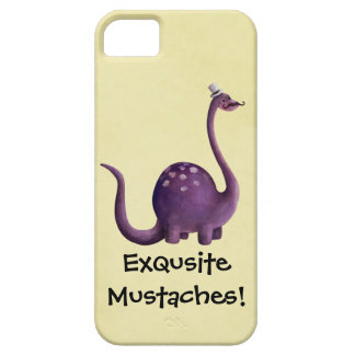 Dinosaur with Mustaches iPhone SE/5/5s Case