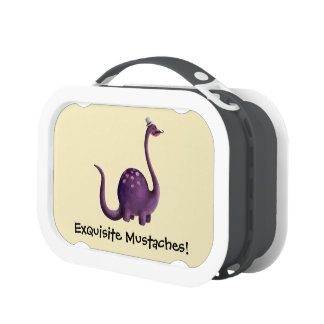 Dinosaur with Mustaches Lunch Box