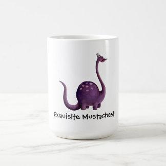 Dinosaur with Mustaches Coffee Mug