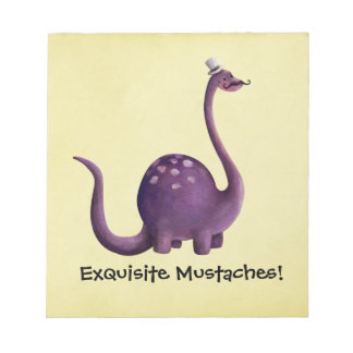 Dinosaur with Mustaches Note Pads