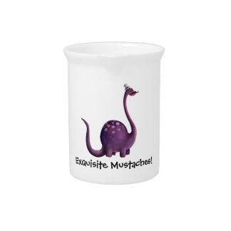 Dinosaur with Mustaches Beverage Pitcher