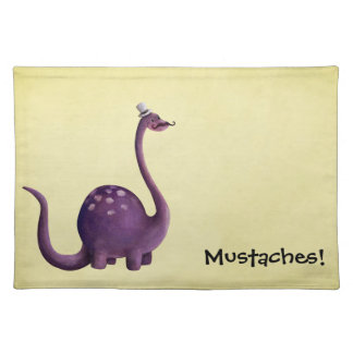 Dinosaur with Mustaches Placemat