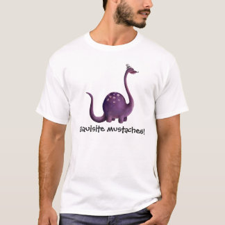 Dinosaur with Mustaches T-Shirt