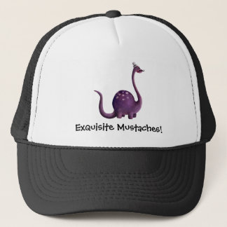 Dinosaur with Mustaches Trucker Hat