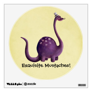 Dinosaur with Mustaches Wall Decal