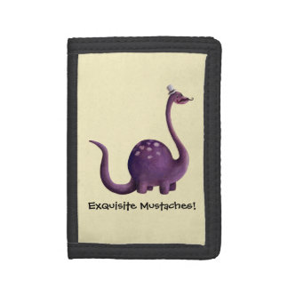 Dinosaur with Mustaches Trifold Wallet