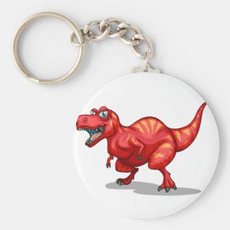 Dinosaur with sharp teeth basic round button keychain