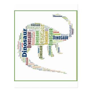 Dinosaur Word Art Postcard