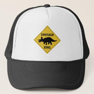 Dinosaur Xing Trucker Hat