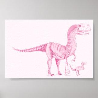 Dinosaurio 6x4 de la madre poster