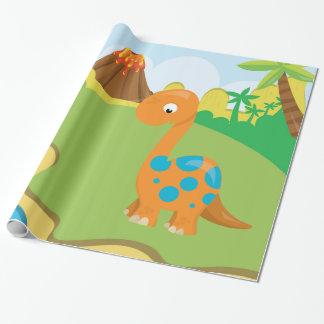 Dinosaurio adorable papel de regalo
