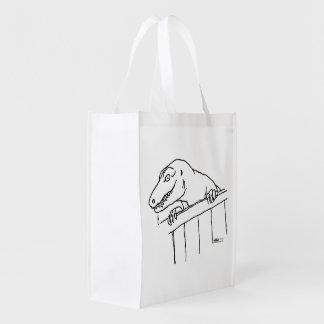 Dinosaurio amistoso de la vecindad bolsas de la compra