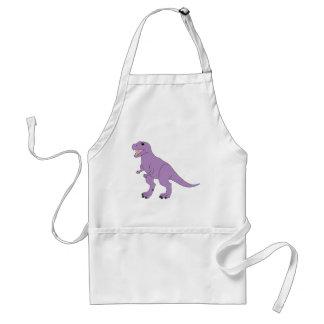 Dinosaurio amistoso púrpura delantal