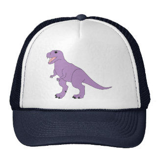 Dinosaurio amistoso púrpura gorras de camionero