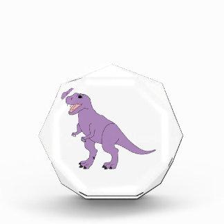 Dinosaurio amistoso púrpura