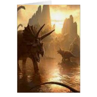 dinosaurio antiguo tarjeta