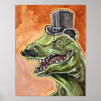 Dinosaurio apuesto póster