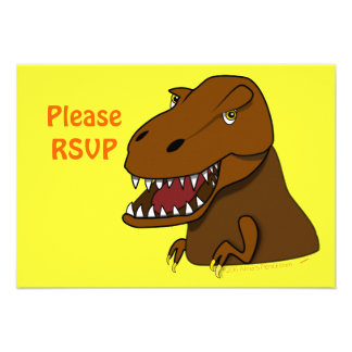 Dinosaurio asustadizo del dibujo animado de Rex de Comunicados Personalizados