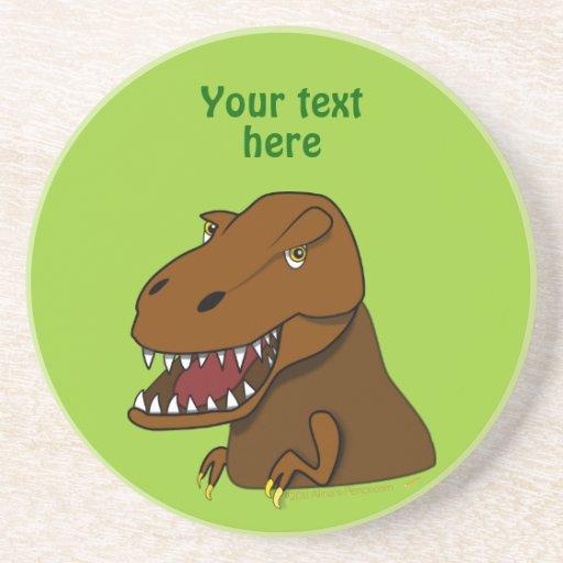 Dinosaurio asustadizo del dibujo animado de Rex de Posavaso Para Bebida
