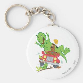 Dinosaurio Attack1 de Scooby Doo Llavero Redondo Tipo Pin