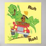 Dinosaurio Attack1 de Scooby Doo Póster