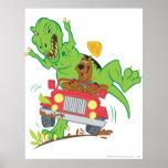 Dinosaurio Attack1 de Scooby Doo Posters