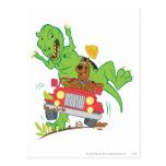 Dinosaurio Attack1 de Scooby Doo Tarjetas Postales