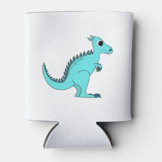 Dinosaurio azul enfriador de latas