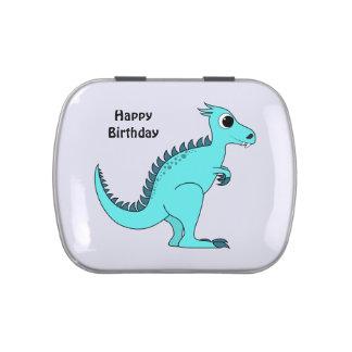Dinosaurio azul frascos de caramelos