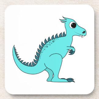 Dinosaurio azul posavasos