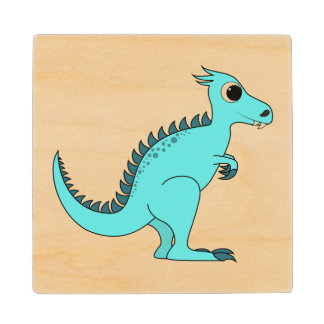 Dinosaurio azul posavasos de arce