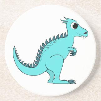 Dinosaurio azul posavasos personalizados